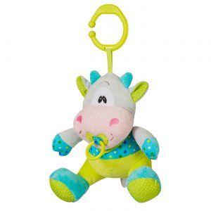 BabyOno plišana viseća igračka kravica, sa glazbom