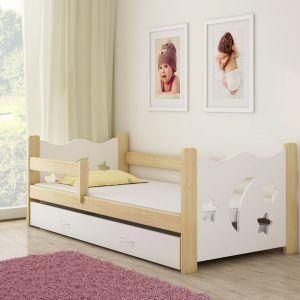 drveni-djecji-krevet-s-ladicom-bijeli