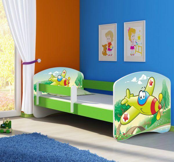 djecji-krevet-zeleni-s-bocnom-stranicom