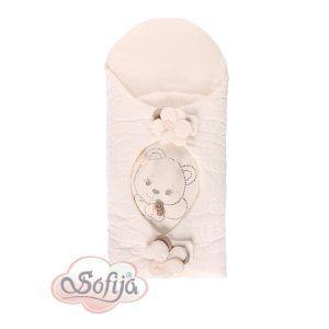 Sofija jastuk za iznošenje Cekinka breskva