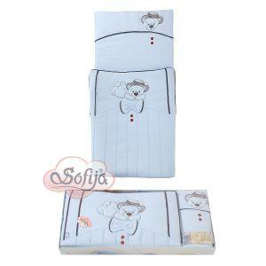 Sofija komplet posteljine Gracjan 2 dijela plavi