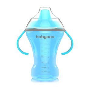 1457 BabyOno bočica Natural Nursing koja se ne prolijeva s tvrdom dudom 260 ml plava A