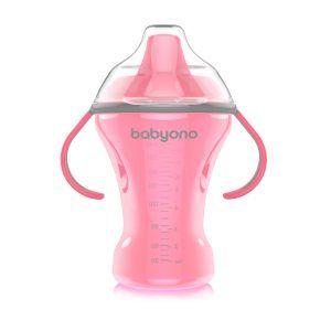 1457 BabyOno bočica Natural Nursing koja se ne prolijeva s tvrdom dudom 260 roza A