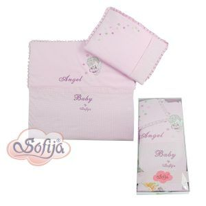 Sofija komplet posteljina 2 dijela Moli, boja roza