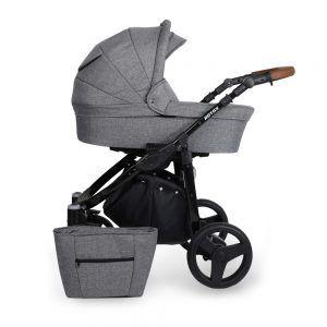 Dječja kolica Kunert ROTAX crna rama, boja 09