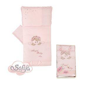 Sofija komplet posteljina 5 dijela Moli, boja roza