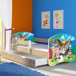 Dječji krevet sonoma s bočnom stranicom i ladicom