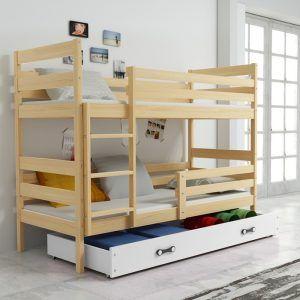 Dječji krevet BMS Eryk pine za dvoje djece naslovna