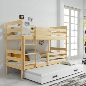 Dječji krevet BMS Eryk pine za troje djece naslovna