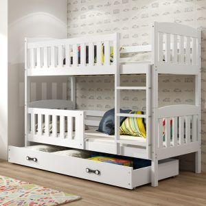 Dječji krevet BMS Kubus bijeli za dvoje djece naslovna