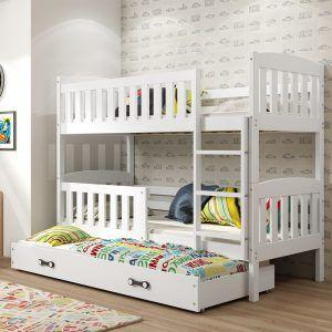 Dječji krevet BMS Kubus bijeli za troje djece naslovna
