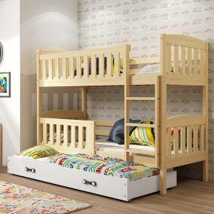Dječji krevet BMS Kubus pine za troje djece naslovna
