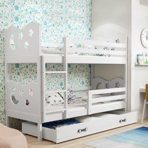 Dječji krevet BMS Miko bijeli za dvoje djece naslovna