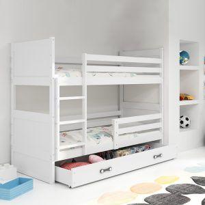 Dječji krevet BMS RICO bijeli za dvoje djece naslovna