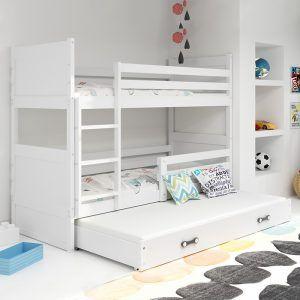 Dječji krevet BMS RICO bijeli za troje djece naslovna