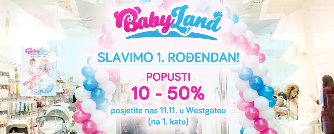 BabyLand prvi rođendan blog post
