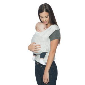 ErgoBaby Aura Wrap marama siva Grey Stripes
