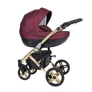 Dječja kolica Kunert MILA Premium GOLD 01 bordo