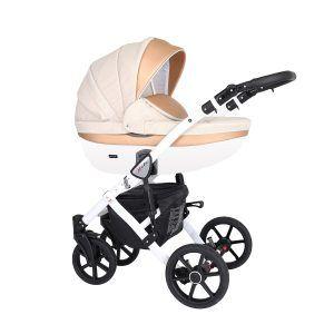 Dječja kolica Kunert Mila bijela rama boja 03n
