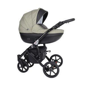 Dječja kolica Kunert Mila crna rama boja 16n