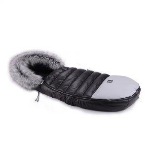 Cottonmoose zimska vreća za dječja kolica 729 ALASKAN Moose crna+siva eko koža n