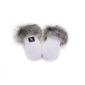 Tople rukavice za dječja kolica 613 Cottonmoose, bijele n