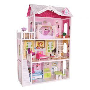 4107 Drvena kuća za lutke Ecotoys Barbie House California 00