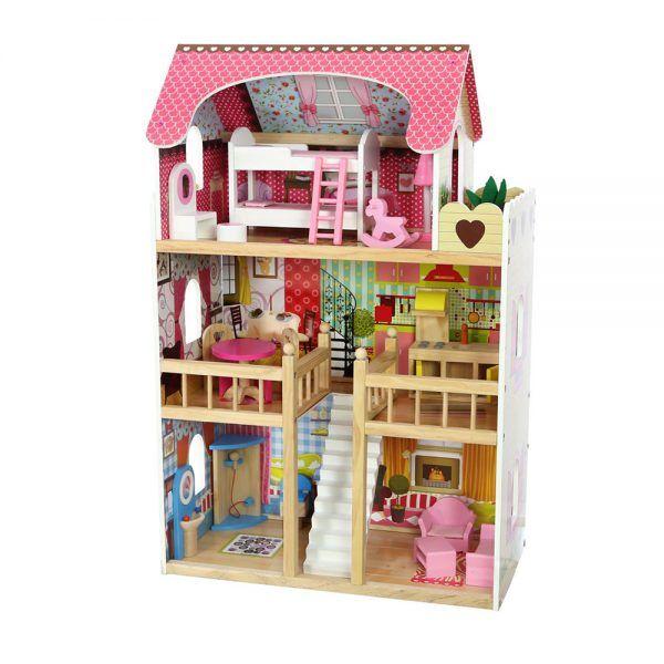 4109 Drvena kuća za lutke Ecotoys Raspberry Residence 2 01