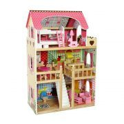 4109 Drvena kuća za lutke Ecotoys Raspberry Residence 2 02