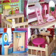4109 Drvena kuća za lutke Ecotoys Raspberry Residence 2 05