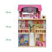 4109 Drvena kuća za lutke Ecotoys Raspberry Residence 2 07
