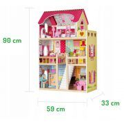 4109 Drvena kuća za lutke Ecotoys Raspberry Residence 2 08