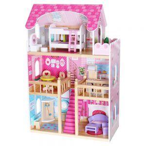 4119 Drvena kuća za lutke Ecotoys Raspberry Residence NOVO 01