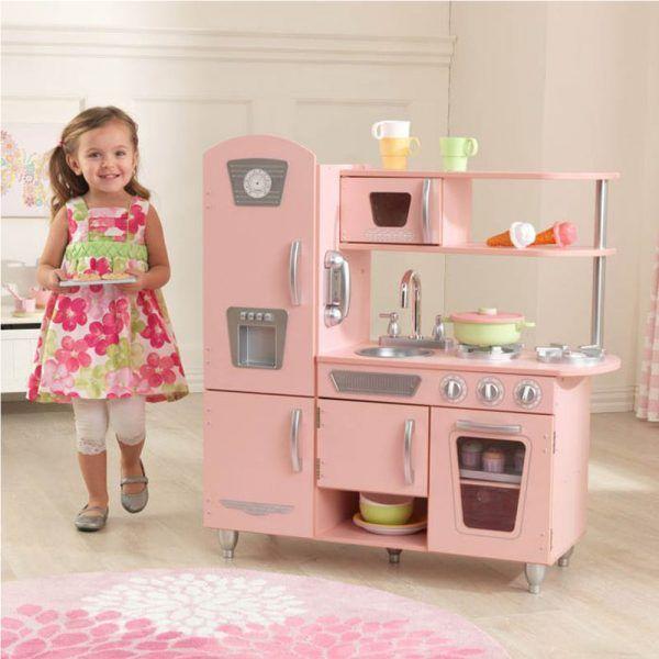 Dječja kuhinja Vintage Play Kitchen - Pink 06