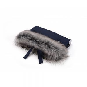 Tople rukavice za dječja kolica CottonMuff, dark blue
