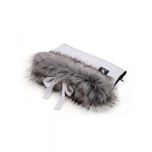 Tople rukavice za dječja kolica CottonMuff, white