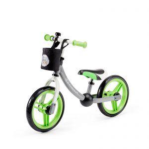Dječji balansirajući bicikl bez pedala Kinderkraft 2WAY sivo zelena 05