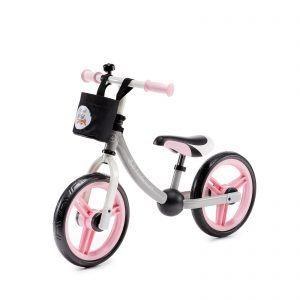 Dječji balansirajući bicikl bez pedala Kinderkraft 2WAY sivo roza 05