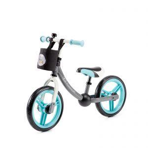 Dječji balansirajući bicikl bez pedala Kinderkraft 2WAY, sivo-plava 04