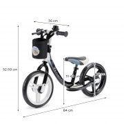 Dječji balansirajući bicikl bez pedala Kinderkraft Space crni 09