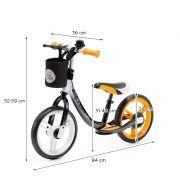 Dječji balansirajući bicikl bez pedala Kinderkraft Space narančasti 08