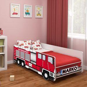 Dječji krevet ACMA Vatrogasci s imenom 001