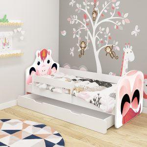 Dječji krevet ACMA s ladicom, ANIMALS jednorog
