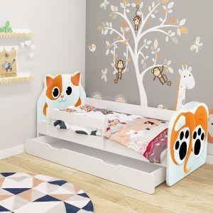 Dječji krevet ACMA s ladicom, ANIMALS mačka