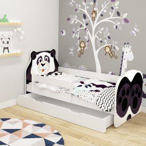 Dječji krevet ACMA s ladicom, ANIMALS panda