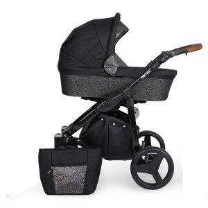 Dječja kolica Kunert ROTAX crna rama, boja 12n