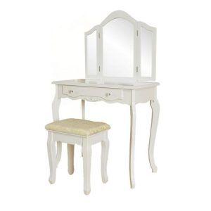 Kozmetički stol i stolica sa 3 ogledala (1)