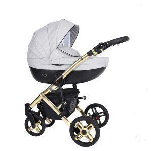 Dječja kolica Kunert MILA Premium GOLD 06 siva