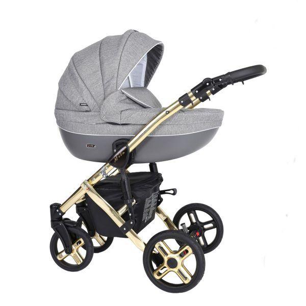 Dječja kolica Kunert MILA Premium GOLD 08 siva