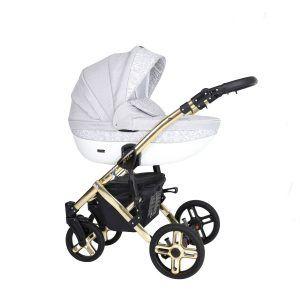 Dječja kolica Kunert MILA Premium GOLD 12 svijetlo-siva